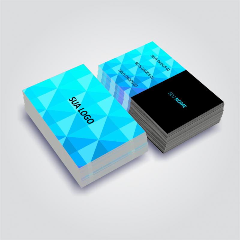 Custo para Impressão Cartão Visita Cosmópolis - Impressão Cartão Visita Quadrado