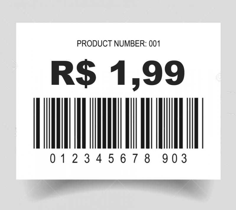 Etiquetas Código Barras Personalizada Cotar José Bonifácio - Etiquetas de Código de Barras com Numeração