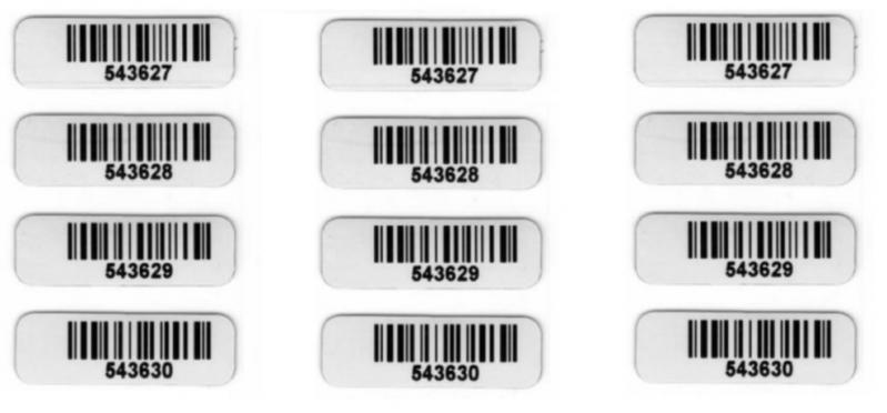 Etiquetas de Código de Barras com Numeração Santo Amaro - Etiquetas de Código de Barras