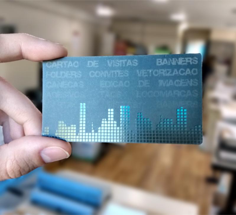 Gráfica Impressão Cartão de Visita sob Encomenda Manhuaçu - Cartão de Visita Impressão com Relevo