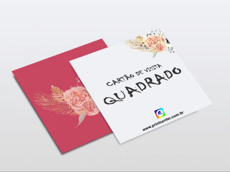 Impressão Cartão Visita Quadrado Pirapora do Bom Jesus - Impressão Cartão Visita Quadrado