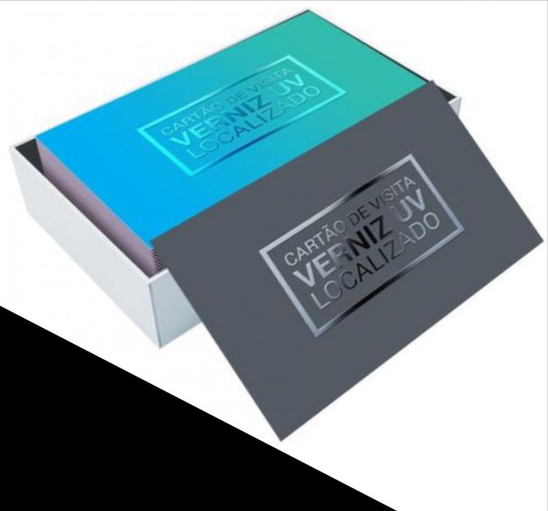 Impressão de Cartão de Visita com Verniz Localizado Jardim Nove de Julho - Impressão Cartão Visita de Luxo