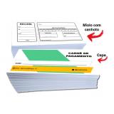 carnê de pagamento personalizado impresso valor Vila Romana