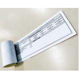 carnê personalizado grampeado
