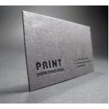 cartão de visita impressão com relevo Brás