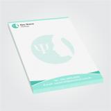 comprar impressão personalizada de bloco de notas Socorro