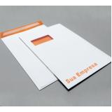 comprar impressão personalizada de envelope com logo inajar de souza