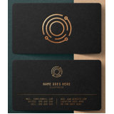 custo para impressão cartão visita de luxo Roosevelt (CBTU)