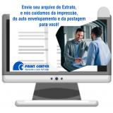 custo para impressão de extrato bancário Jardim São Luiz