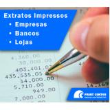 custo para impressão de extrato de bancos Santana