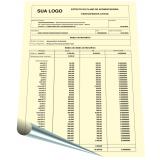 custo para impressão de extrato papel amarelo MURIAÉ