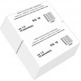 etiqueta adesiva personalizada com código Paulínia