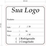 etiqueta para embalagem de alimentos valores Parque São Jorge