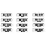 etiquetas de código de barras com numeração Pirambóia