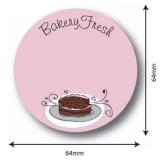 etiqueta para embalagem de bolo