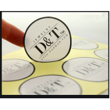 etiqueta adesiva redonda personalizada