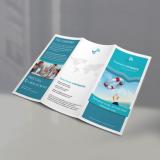 gráfica de folder para produtos Vila Ursulina