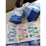 gráfica de folder produtos Mairinque