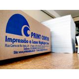 impressão a laser em papel reciclado cotar Paiol Grande