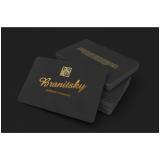 impressão cartão visita de luxo sob encomenda Tremembé