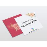 impressão cartão visita quadrado Santa Teresinha de Piracicaba