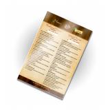 impressão de cardápio de restaurante cotar Itabirito