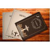 impressão de cardápio de restaurante sob encomenda Bauru