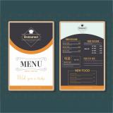 impressão de cardápio de restaurante