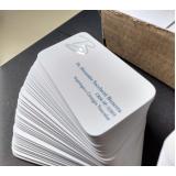 impressão de cartão de visita com verniz localizado cotar Vila Esperança