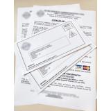impressão de cartas de cobrança bancária Real Parque