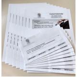 impressão de cartas personalizadas Jardim São Paulo