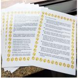 impressão de cartas casa verde