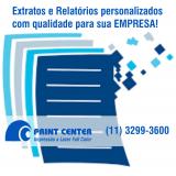 impressão de extrato bancário orçamento Jardim Paulista