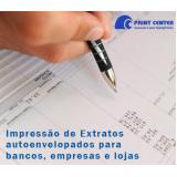 impressão de extrato de bancos orçamento Cosmópolis
