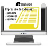 impressão de extrato papel amarelo