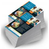 impressão de folder de lançamento de produto Jardim Helian