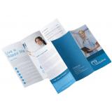 impressão de folder para produtos Vila Pierina
