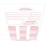 impressão de folha de resposta em branco Sertãozinho