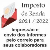 impressão de informe de irrf preço Pernambuco