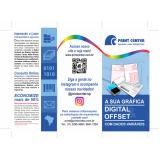 impressão folder orçamento Alto da Lapa