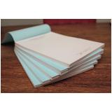 impressão personalizada de bloco de notas cotar parque peruche
