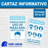 impressão personalizada de cartaz para covid Pompéia