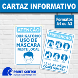 impressão personalizada de cartaz para covid Salesópolis