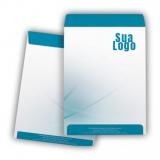 impressão personalizada de envelope com logo cotar bras leme