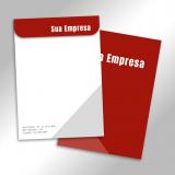 impressão personalizada de envelope com logo valores Lorena