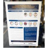 impressão personalizada de cartaz para covid