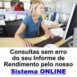informe de rendimentos online