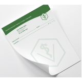 loja de impressão personalizada de bloco de notas Saúde