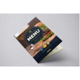 preço de impressão cardápio para restaurante Lapa