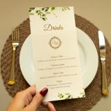 preço de impressão de cardápio para casamento Nova Odessa